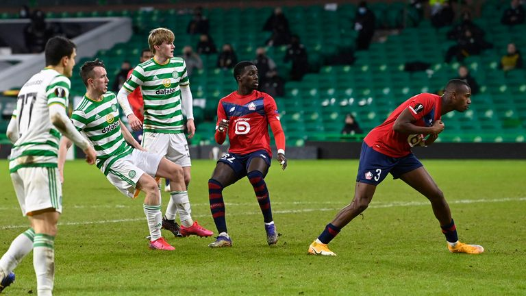 Turnbull swivels and shoots to put Celtic into the lead for a third time