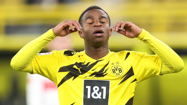 Youssoufa Moukoko shows his dejection after Stuttgart rub salt into wounds