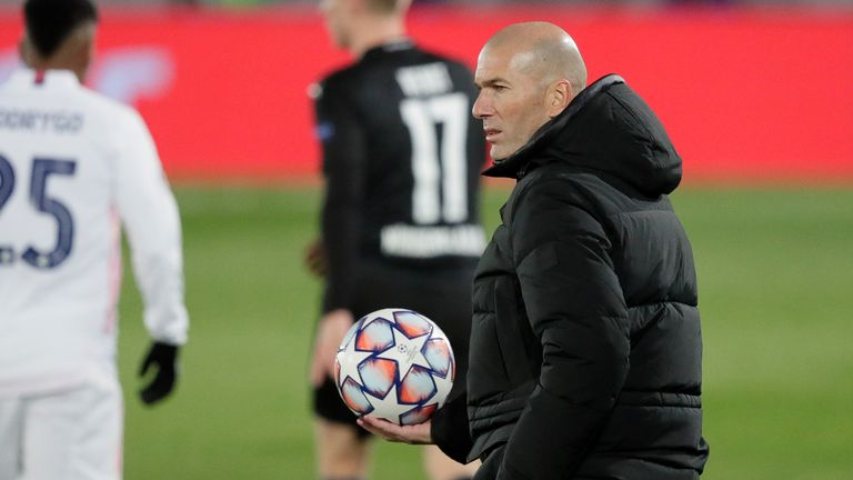 Zinedine Zidane was delighted with Real Madrid's application