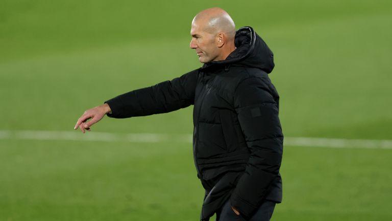 The pressure has eased on Zinedine Zidane this week