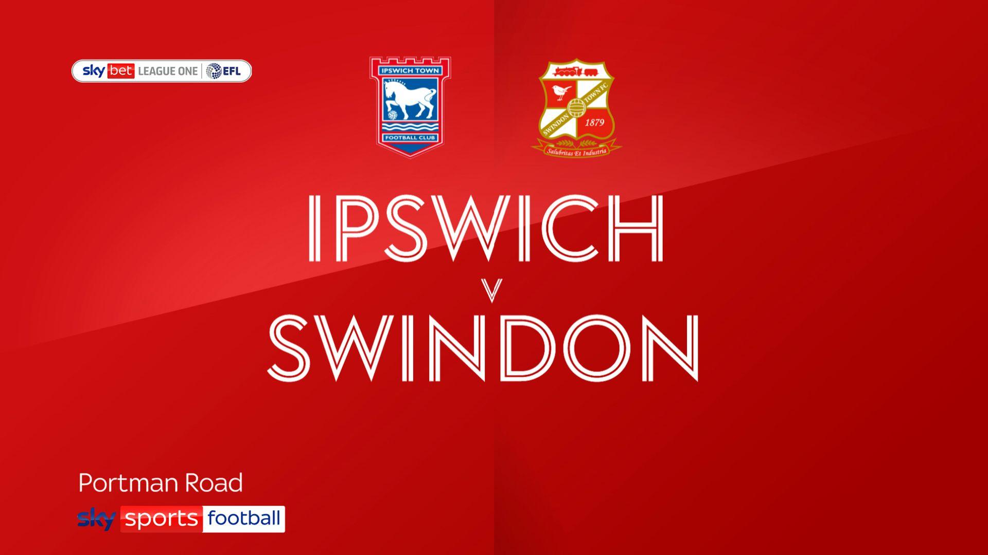 Swindon hold on to beat Ipswich
