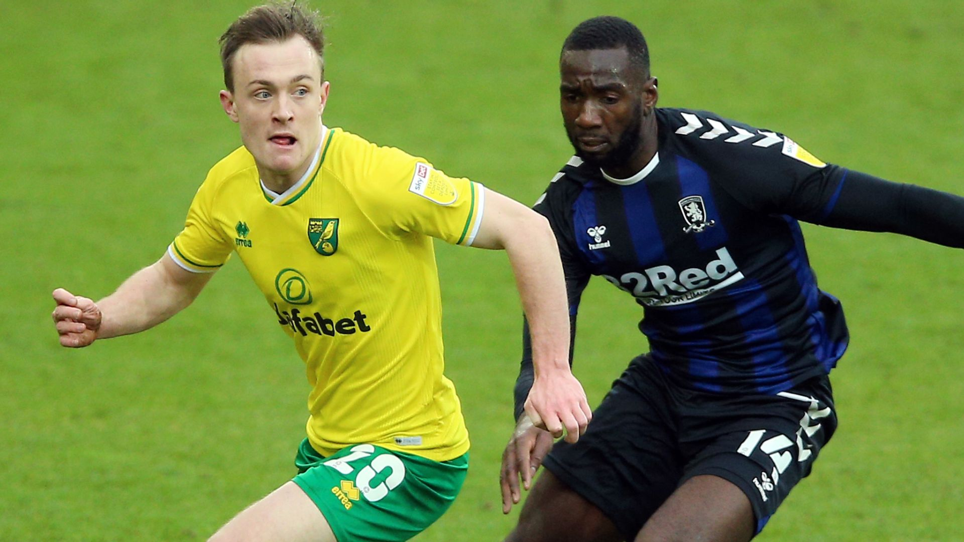 Buendia sees red as Norwich draw with Boro