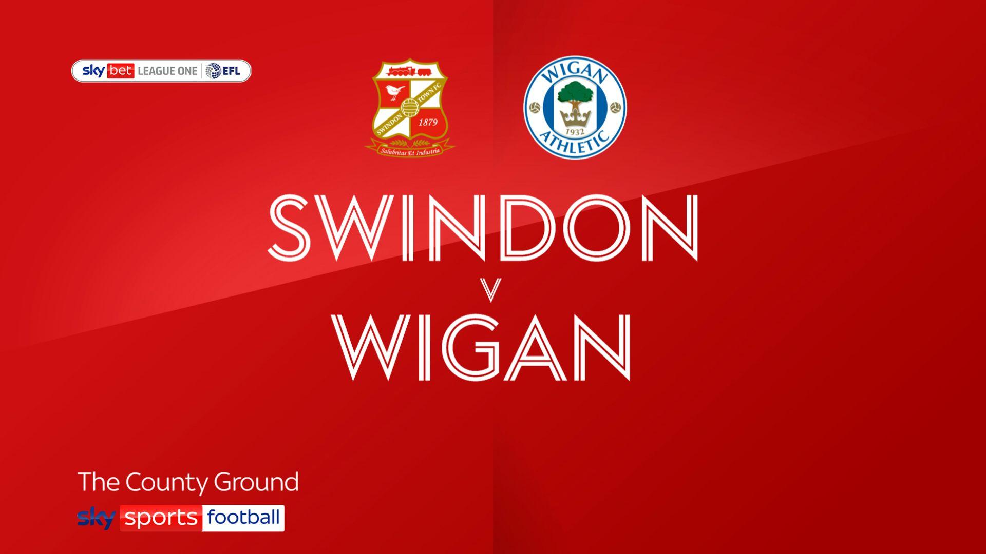 10-man Swindon edge past Wigan