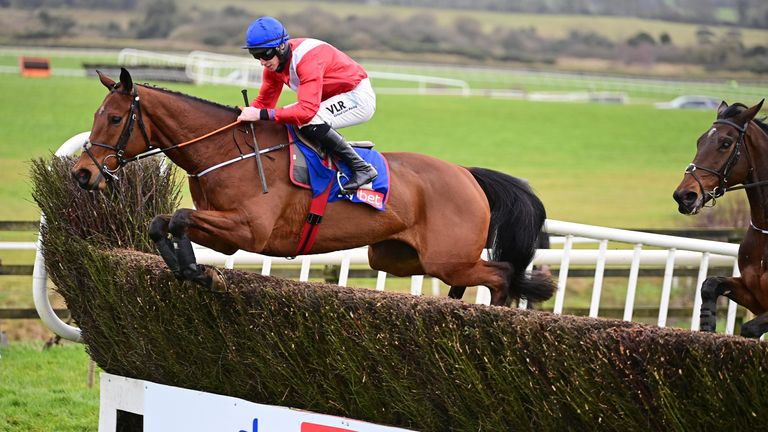Envoi Allen, ridden by Jack Kennedy, en route to winning the Sky Bet Killiney Novice Chase at Punchestown