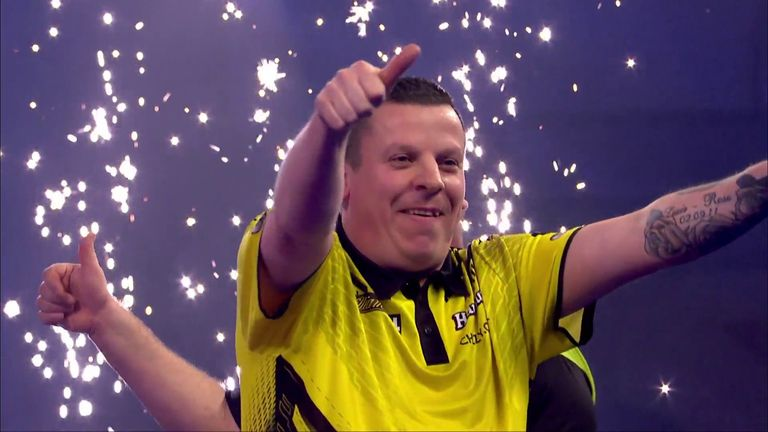 Dave Chisnall destroyed Van Gerwen to reach the semi-finals of the world championship