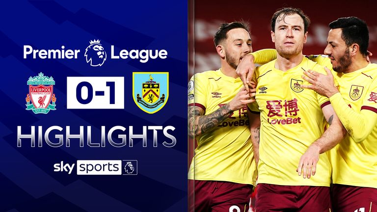 FREE TO WATCH: Highlights from Burnley's win against Liverpool in the Premier League