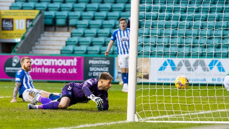 Alan Power gifted Hibs the lead when he put the ball through his own net