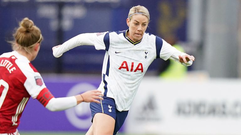 Alanna Kennedy has made 12 appearances for Spurs Women so far since joining on loan from Orlando Pride