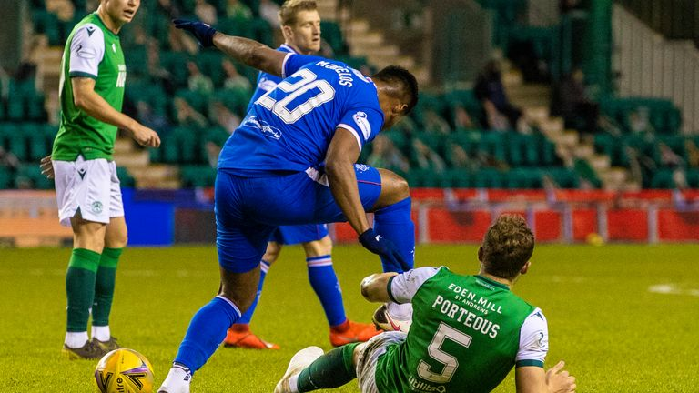 Rangers' Alfredo Morelos has been charged with violent conduct by the Scottish FA for a stamp on Hibernian's Ryan Porteous