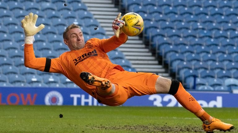 Allan McGregor was in inspired form for Rangers to preserve a clean sheet
