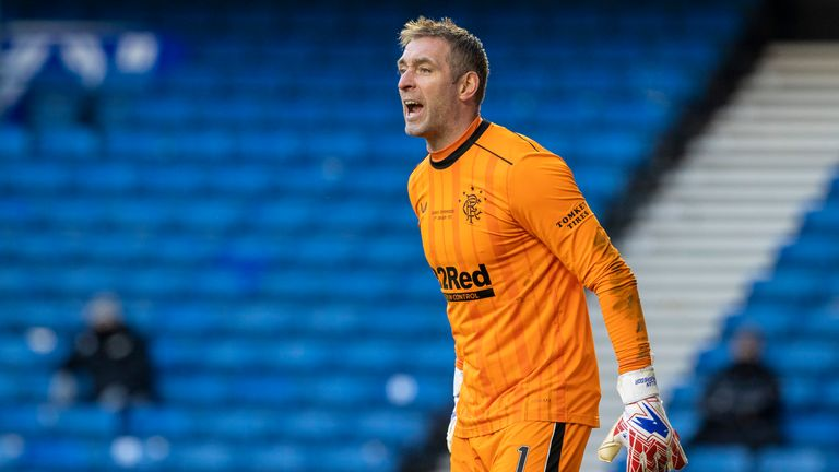 GLASGOW, SCOTLAND - JANUARY 02: Allan McGregor in action for Rangers during a Scottish Premiership match between Rangers and Celtic at Ibrox Stadium, on January 02, 2021, in Glasgow, Scotland (Photo by Alan Harvey / SNS Group)