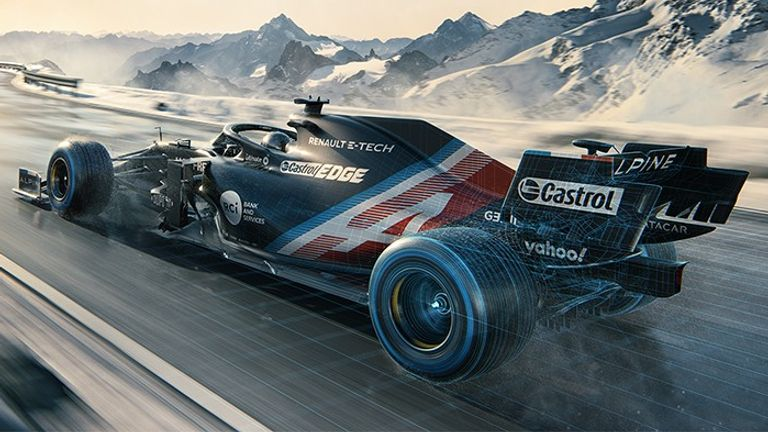 The newly-named Alpine F1 have already revealed their 'temporary winter livery'