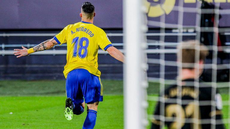 Former Manchester City striker Alvaro Negredo scored his fourth La Liga goal of the season
