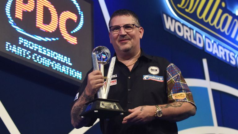 The Scot's fifth appearance in a PDC world final sees him draw level with Van Gerwen and Dennis Priestley
