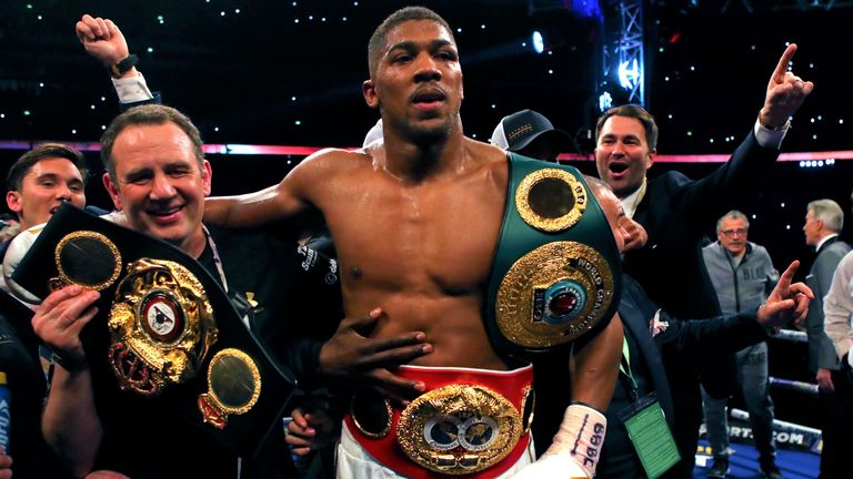 Anthony Joshua had unified the WBA and IBF belts at Wembley