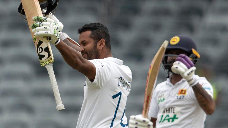 Sri Lanka captain Dimuth Karunaratne scored his 10th Test century early on day three in Johannesburg