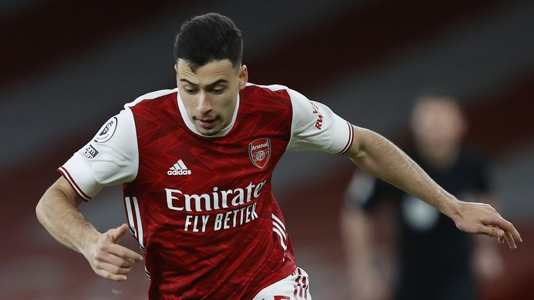 Gabriel Martinelli had only made four appearances this season following a serious knee injury