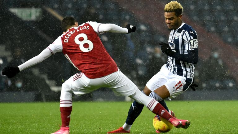 Action from West Brom vs Arsenal