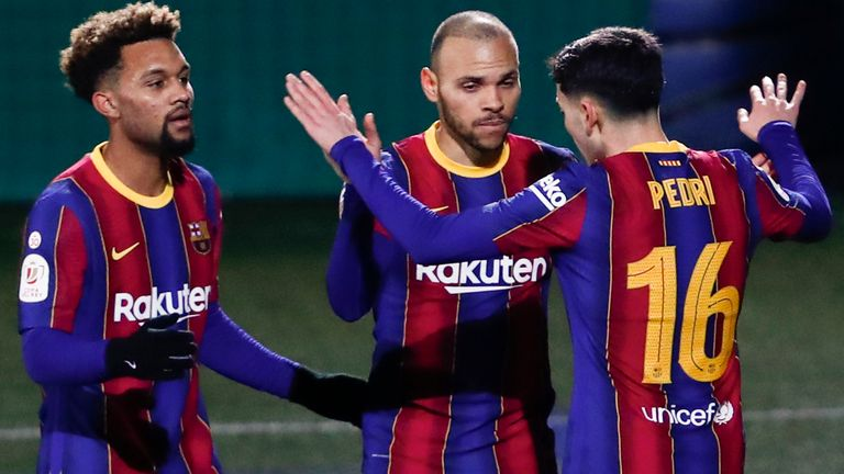 Barcelona edged past their lower league opposition in extra time - AP