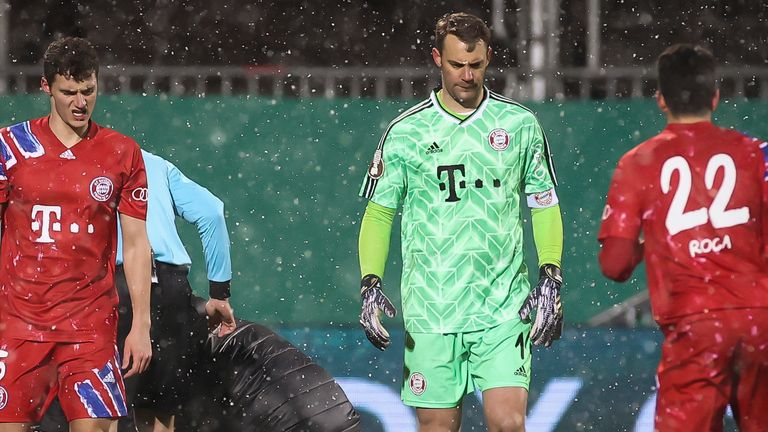 Bayern fielded a strong side with World Cup winner Manuel Neuer in goal