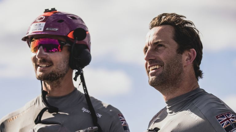 Sir Ben Ainslie and Giles Scott are enjoying their time on the water together and find the focus on their relationship amusing (Image Copyright - Harry KH)