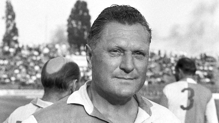 Josef Bican, former Czechoslovak and Slavia Prague soccer player. Photo/Zdenek Havelka (CTK via AP Images)