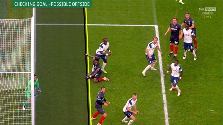 Ivan Toney's goal for Brentford was ruled out via a fraction VAR decision