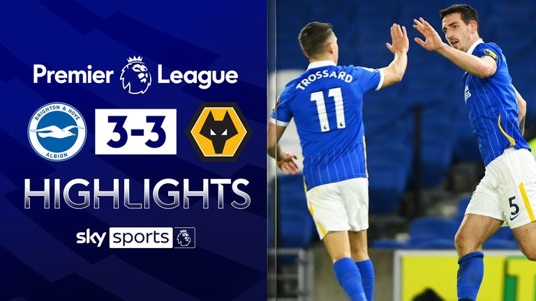 FREE TO WATCH: Highlights from Brighton's draw with Wolves in the Premier League.