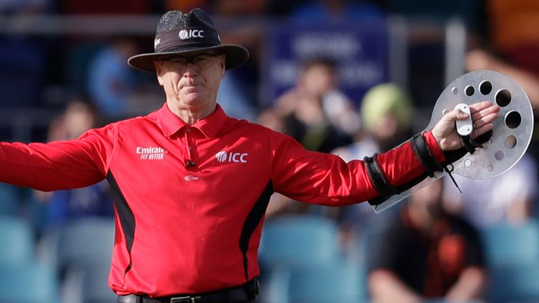 Bruce Oxenford pioneered the use of the protective arm shield for umpires in international cricket