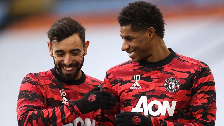Marcus Rashford's Manchester United team-mate Bruno Fernandes is fourth on the list