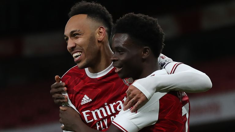 Pierre-Emerick Aubameyang and Bukayo Saka were on target against Newcastle