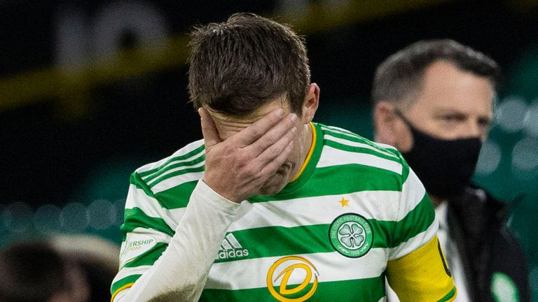 """Celtic's captain against Livingston Callum McGregor labelled his side's performance """"not good enough"""" as they gave Rangers the chance to move 23 points clear"""