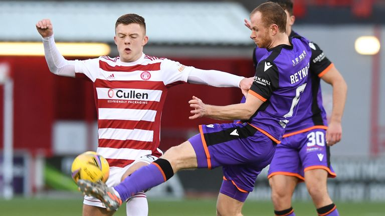 Callum Smith (left) missed Hamilton's best chance of the game in a frustrating afternoon for the hosts
