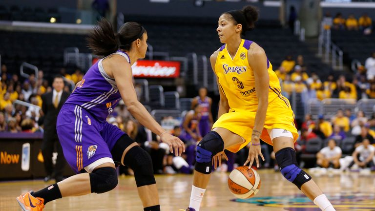 Candace Parker in action for the Los Angeles Sparks