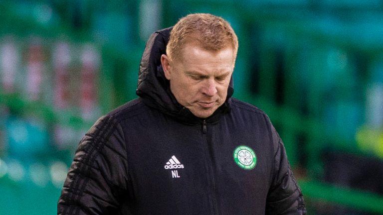 Celtic manager Neil Lennon during the match against St Mirren