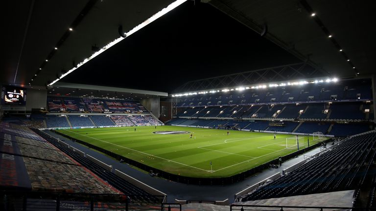 Sectarian insults were heard outside Ibrox prior to the Old Firm derby on Saturday
