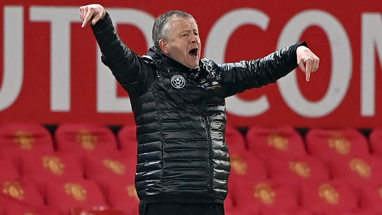 Sheffield United boss Chris Wilder (PA image)