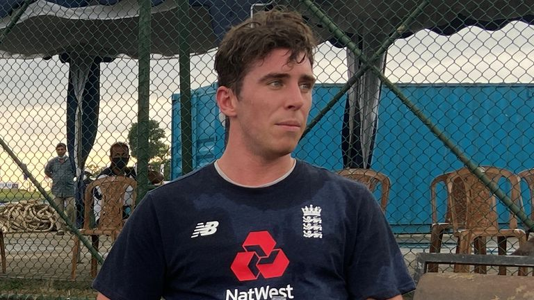 Dan Lawrence is expected to make his England debut in the first test against Sri Lanka.  Pic: BCE