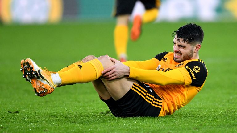 Pedro Neto cuts a dejected figure during Wolves' latest setback