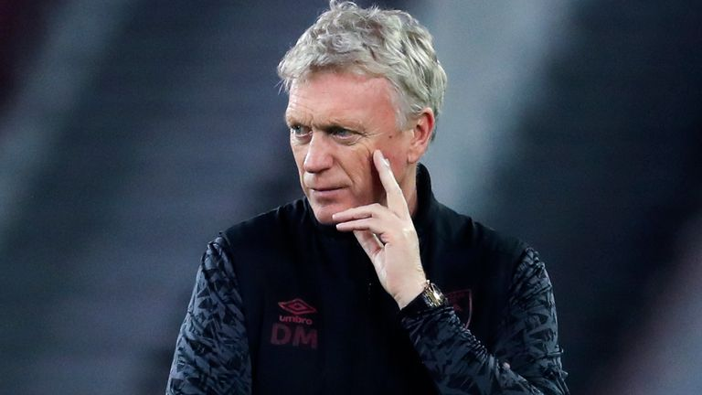 David Moyes, West Ham manager (Downloaded from AP)