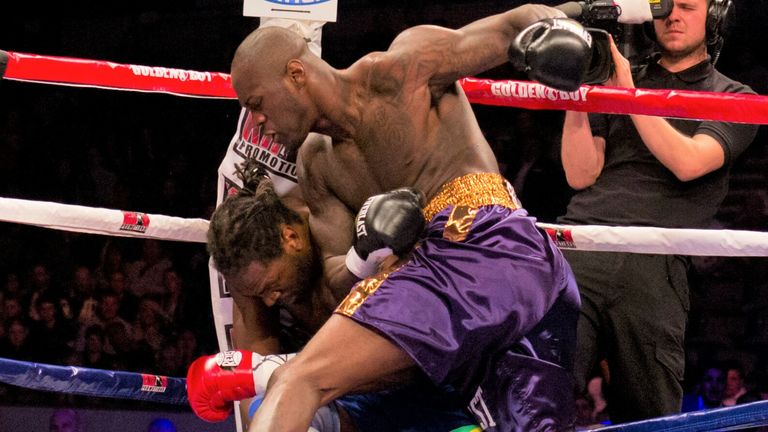 Wilder hammered Audley Harrison into retirement on his first fight in Britain