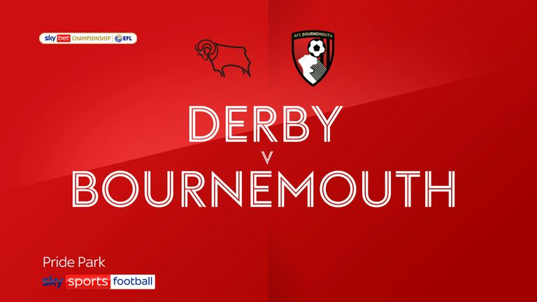 Derby v Bournemouth badge
