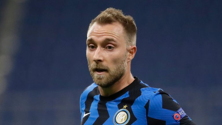 Inter Milan are looking to offload Christian Eriksen this month