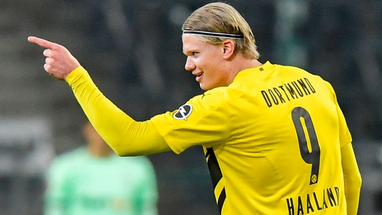 Erling Haaland scored twice for Dortmund, but could not stop a slip to defeat AP