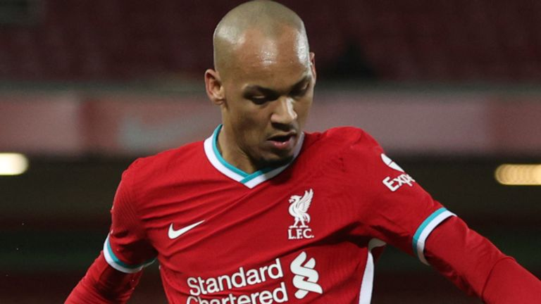 Fabinho has been deployed at centre half in recent weeks because of injuries to key defenders