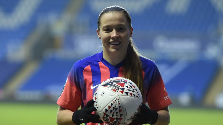 Fran Kirby took home the match ball from Reading after her four-goal tally against her former club