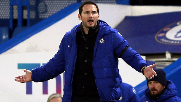 Frank Lampard's Chelsea are now without a win in six Premier League games