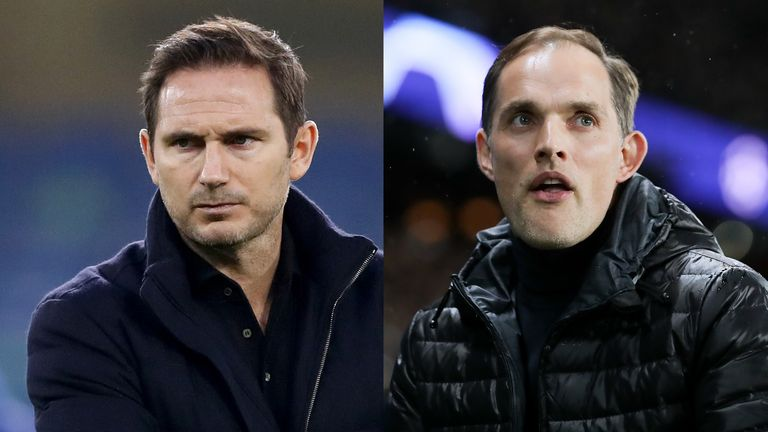 Thomas Tuchel (R) is poised to take over from Frank Lampard as Chelsea head coach