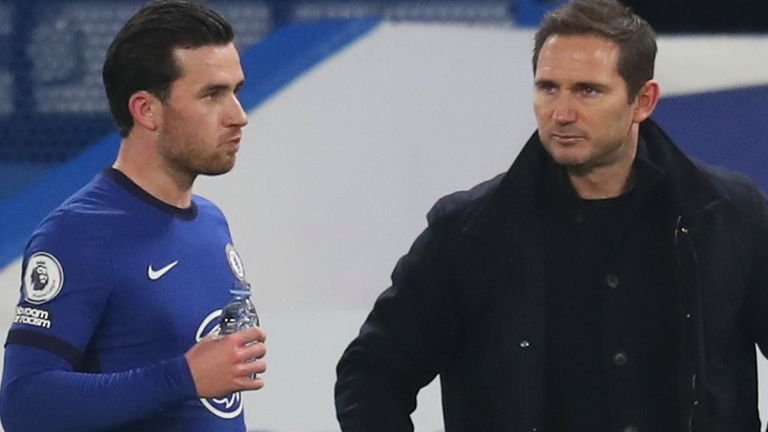 Ben Chilwell with Frank Lampard
