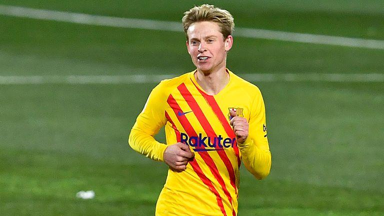 Frenkie De Jong scored Barcelona's only goal at Huesca